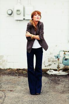 jeans to work flare pants causal workwear woman comfortable clothing for work