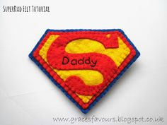 Superman How To - Father's Day Felty Tutorial-Grace's Favours - Craft Adventures