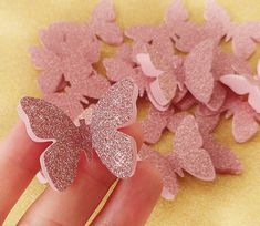 Luxury decoration for any occasion - baby shower, wedding day, bridal shower, birthday princess party etc. You will receive a pack of 20 butterflies in rose gold. Size: approx X Butterfly Birthday Party, Birthday Roses, Butterfly Baby Shower, Princess Birthday, Princess Party, Baby Birthday, Rose Gold Decor, Rose Gold Glitter, Party Table Decorations