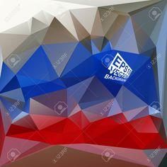 Multicolor (azul, Rojo, Marrón) Plantillas De Diseño. Fondo Geométrico Triangular Abstracta Moderna Del Vector. Ilustraciones Vectoriales, Clip Art Vectorizado Libre De Derechos. Pic 33569184.