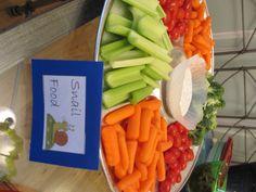Snail Food veggie platter