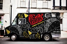 Food truck graphics creative 33 ideas for 2019 Food Truck Design, Food Design, Taco Food Truck, Foodtrucks Ideas, Food Truck Business, Food Vans, Truck Cakes, Coffee Truck, Food Trailer