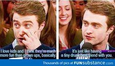 Daniel Radcliffe on kids
