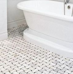 Material: Carrara White Venato, Nero Marquita - Color: white and black - Finish: Polished - Chip Size: - Size: - Thickness: - Joint: Marble Mosaic, Mosaic Tiles, White Master Bathroom, Marble Polishing, Tub Surround, Contemporary Interior Design, Fireplace Surrounds, Mosaic Patterns, Black Marble