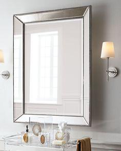 Beaded Wall Mirror, 26W