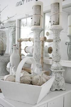 Shabby Chic Candle Holders.
