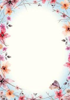 Flower Backgrounds, Wallpaper Backgrounds, Iphone Wallpaper, Wallpapers, Borders For Paper, Borders And Frames, Page Borders, Frame Background, Floral Border