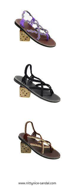 Purple :) Black :) Brown :) paracord sandals