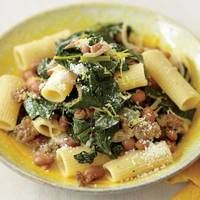 Kale & Sausage Ragu. Very simple ingredients, but surprisingly lots of flavor. I use pinto beans instead of pink beans.