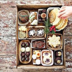 How to style a holiday cookie tray - Simple Bites - Holiday wreaths christmas,Holiday crafts for kids to make,Holiday cookies christmas, Christmas Cookie Boxes, Christmas Goodies, Holiday Cookies, Christmas Desserts, Christmas Treats, Holiday Treats, Holiday Recipes, Holiday Gifts, Cookies Box