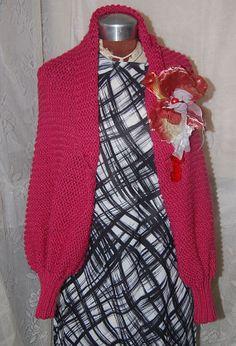 Shrug Pink Embellished Sweater Gypsy Style by Ramblinrose67, $25.00