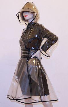 Clear transparent Rain Coat