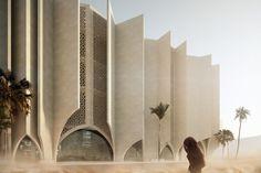 Henn Archictects - Museum of Islamic Faith Mekkah, SA Arcade Architecture, Museum Architecture, Sacred Architecture, Unique Architecture, Architecture Portfolio, Futuristic Architecture, Concept Architecture, Mekka, Architectural Section