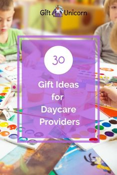 30 Gift Ideas for Daycare Providers (They Will Appreciate) - GiftUnicorn Daycare Provider Gifts, Daycare Gifts, Kids Daycare, Gifts For Kids, Daycare Ideas, Christmas Gift For Daycare Teacher, Tracher Gifts, Babysitter Gifts, Goodbye Gifts