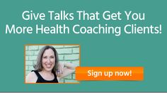 FREE Online Training for Health Coaches: learn how to pack the room every time you speak, and get the word-for-word customizable speaking outline for getting listeners to line up to work with you. #marketing #healthcoach #coach #publicspeaking #smallbiz #webinar