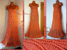 Купить Платье Изольда - оранжевый, платье в пол, Платье нарядное, платье на выход