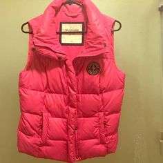 Abercrombie And Fitch Pink Vest Barely worn Abercrombie & Fitch Jackets & Coats Vests