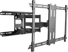 """Kanto - Full-Motion TV Wall Mount for Most 37"""" - 75"""" Flat-Panel TVs - Extends 21.8"""" - Black - Angle Zoom"""