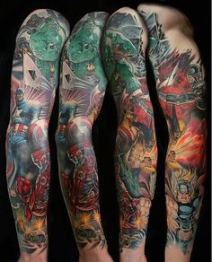 marvel tattoo sleeve - Google Search
