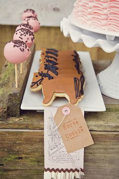 Cookies at a Vintage Pony Themed 4th Birthday Party with Lots of Really Great Ideas via Kara's Party Ideas Kara Allen KarasPartyIdeas.com #CowgirlParty #...