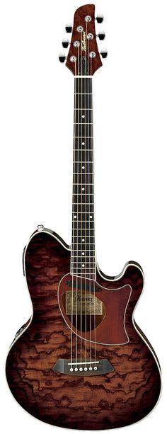 Ibanez TCM50 Talman Vintage Brown Sunburst akoestisch-elektrische cutaway orchestra gitaar