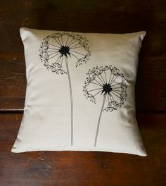 """""""Wish"""" Handwoven, Hand Printed pillow by Sustainable Threads.  #Handcrafted #FairTrade #Decor #ThreeHeartsHome"""