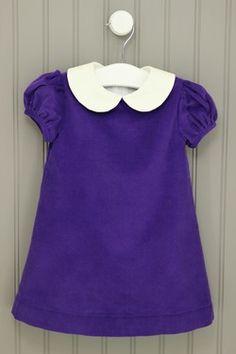 CPC Designs 12M Purple Corduroy Dress