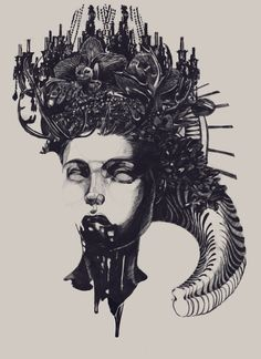 """rfmmsd: """"Artist & Illustrator: DASHA PLISKA Part of the """"Archetype"""" Series """" """"Archetypical imagery are always accompany people, they are a source of mythology, religion, and art. In these cultural..."""