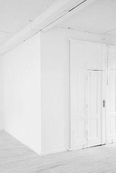 white floors + painted over doors