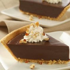 Chocolate Satin Pie...just not the graham cracker  crust though...I like a real pie crust.