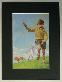 1960s Vintage Children's Print of Peter and Jane by PrimrosePrints