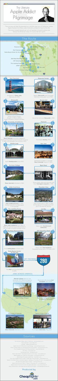 The ultimate Apple addict pilgrimage  Infographic