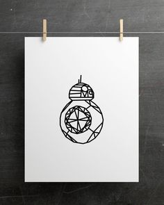 Star Wars Prints, Star Wars Art, Printable Art, Printables, Geometric Star, Bb8, Letter Size Paper, Printing Services, Origami