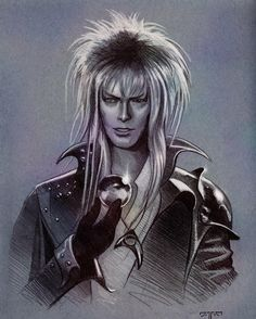 David Bowie Labyrinth, Labyrinth 1986, Labyrinth Movie, Goblin King, Jennifer Connelly, Sarah And Jareth, Labrynth, Kobold, The Last Unicorn