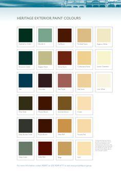 Heritage exterior paint colours