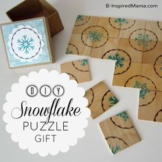 Make a Puzzle for a Homemade Christmas Gift from B-InspiredMama.com