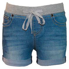 Seven7 Girls' Knit Waist Short - Medium Wash