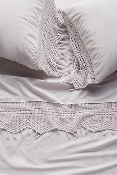 Evangeline Crochet Sheet Set - anthropologie.com