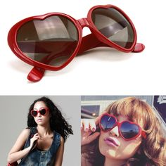 1cb1e7fd4c Heart Shape Unisex Sunglasses Party Glasses Anteojos, Lentes, Gafas De Sol,  Corazones,