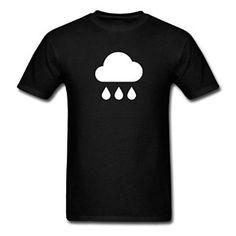 Amazon.com: Men's Rain Cloud For Printed T-Shirts Black: Clothing