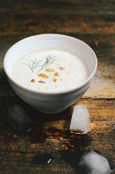 Chilled cucumber walnut yogurt soup