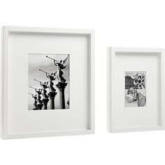 white matte picture frames cb2