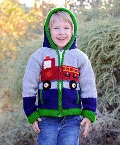 This Brandon Fire Truck Hoodie - Toddler & Boys is perfect! #zulilyfinds