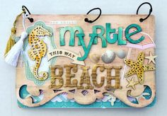 Cute beachy mini album by Vicki Boutin. Nantucket Collection by Pink Paislee.  Love it!