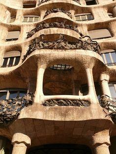 La Pedrera/ Casa Mila. Antoni Gaudi. Barcelona, Spain. 1905-10
