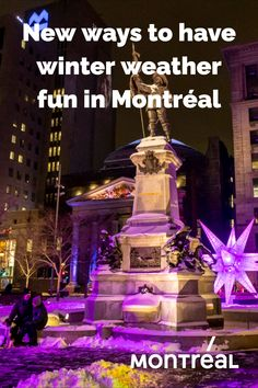 It's no secret that that when winter rolls in, Montrealers go out. Our affinity for outdoor, cold weather fun borders on boundless, and while the current health crisis will curtail certain activities, there are plans afoot to make sure one and all can continue to enjoy winter in the city, albeit in the safest way possible. Outdoor Fun, Family Activities, Montreal, Cold Weather, Going Out, Rolls, City, Winter, Health