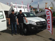 ISUZU at Suisse Public 2013, welcoming visitors to the ISUZU stand