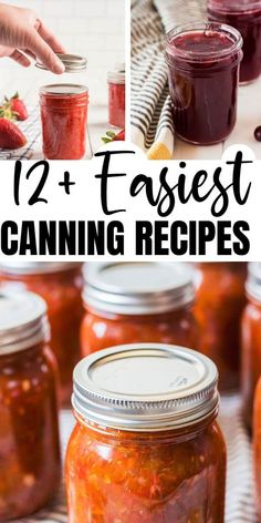 If you're a novice at food preservation, these easy canning recipes are a good place to start. They all use a simple water bath method.  #canning #homestead #recipes Easy Canning, Water Bath Canning, Canning Tips, Pressure Canning Recipes, Home Canning Recipes, Pressure Cooker Recipes, Pressure Cooking, Freezing Vegetables, Canning Vegetables