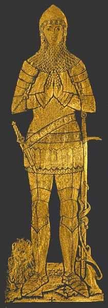 General Sir Robert Wilson Brass Rubbing - Gold on Black