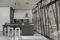 İpera 25 in Istanbul by Alataş Architecture & Consulting. Wood slat screen.